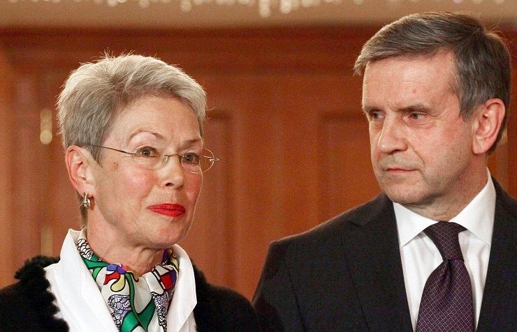 Heidi Tagliavini and Mikhail Zurabov