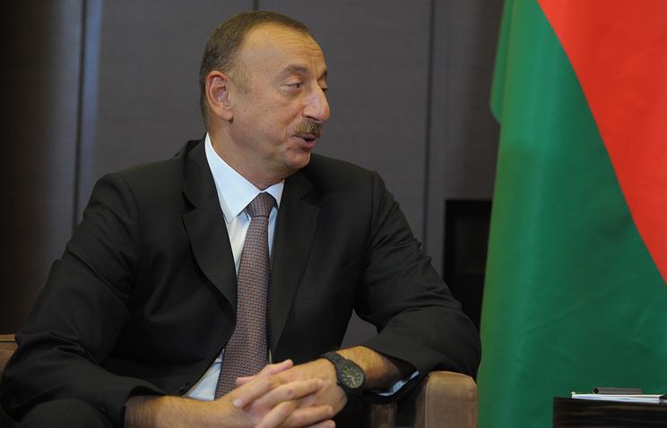 Azerbaijan's President Ilham Aliyev