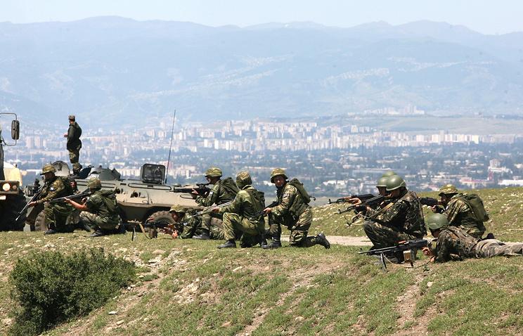 NATO servicemen during drills in Georgia (archive)