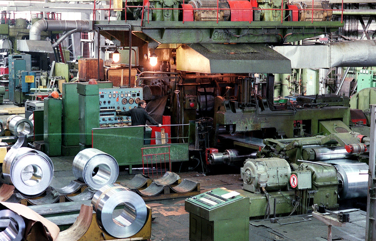 Titanium rolled sheet production site (archive)