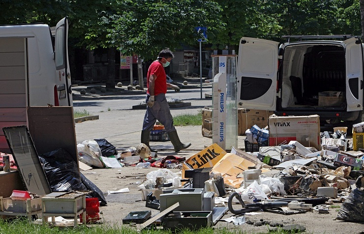 Aftermath of floods in Serbia