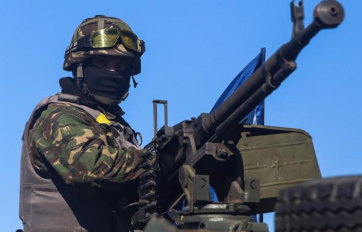 A Ukrainian soldier seen near Donetsk