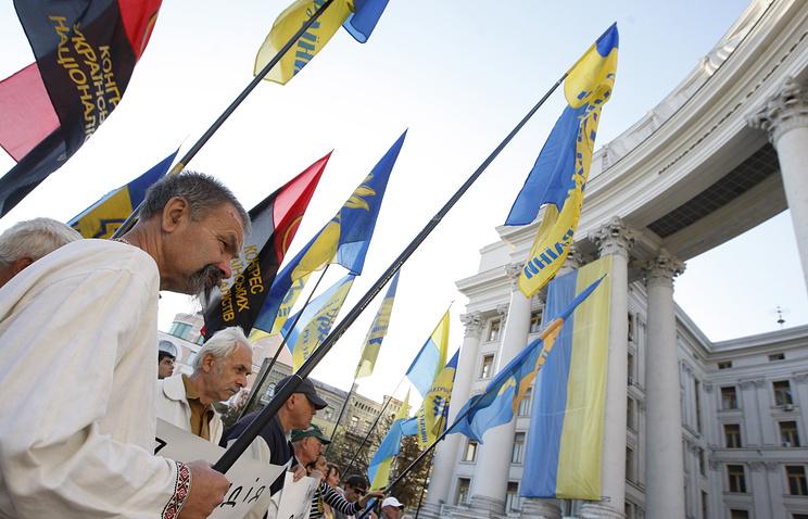 Rally in support of lustration in Kiev, 18 September 2014