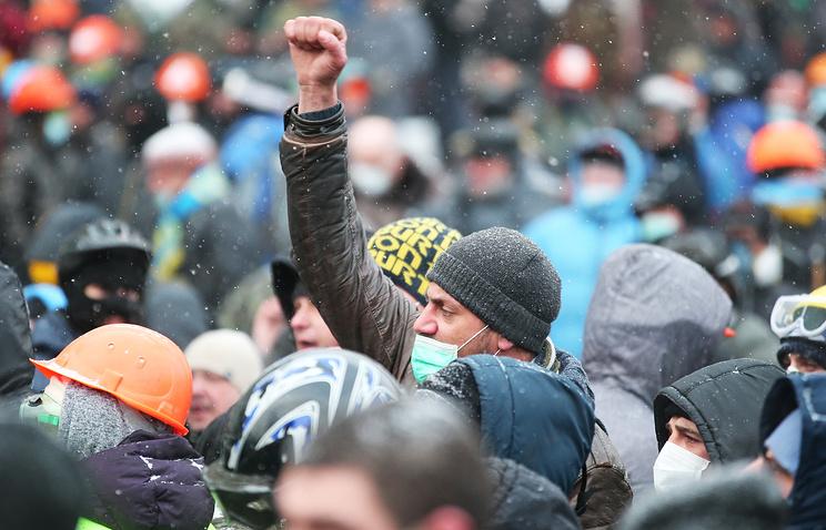Ukraine's opposition supporters in Kiev (archive)