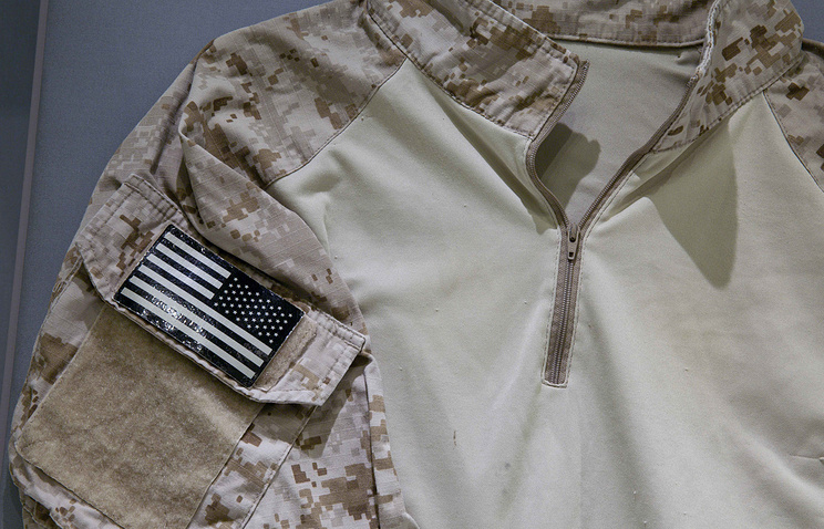 The fatigue shirt worn by the US Navy SEAL during the mission to capture Osama bin Laden seen in a museum (archive)