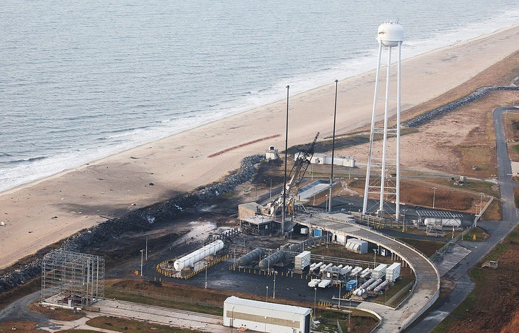 Aftermath and damage to the launch pad after the Antares rocket crash
