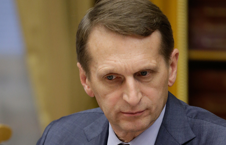 Speaker of Russia's lower house of parliament Sergey Naryshkin