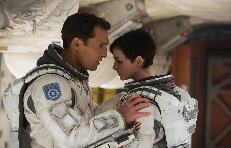 """Matthew McConaughey and Anne Hathaway in a scene from the film '""""Interstellar"""""""