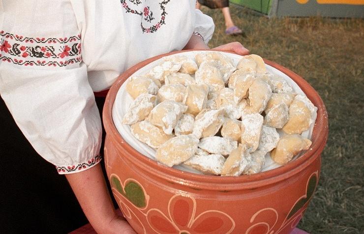 Vareniki (Ukrainian dumplings)