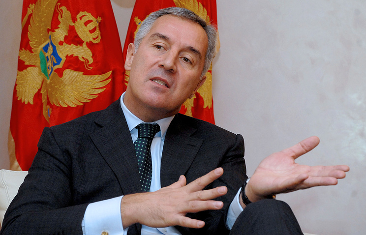 Montenegrin PM Milo Djukanovic