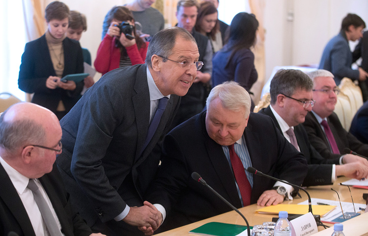 Sergey Lavrov at a session of the Council of Heads of Subjects of the Russian Federation
