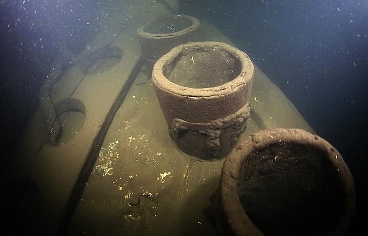 Wreckage of battleship Lefort