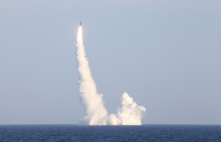 Bulava missile launch