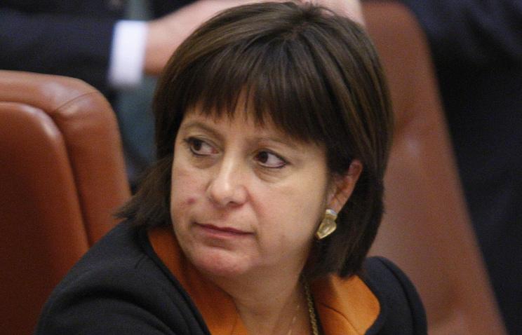 Ukraine's Finance Minister Natalia Yaresko