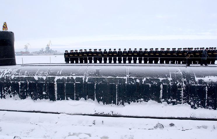 Borei class nuclear-powered submarine Yuri Dolgoruky