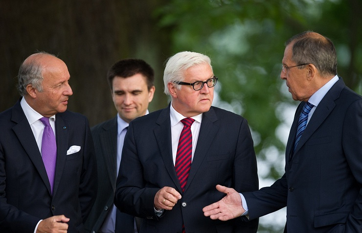 The foreign ministers of France, Ukraine, Germany and Russia