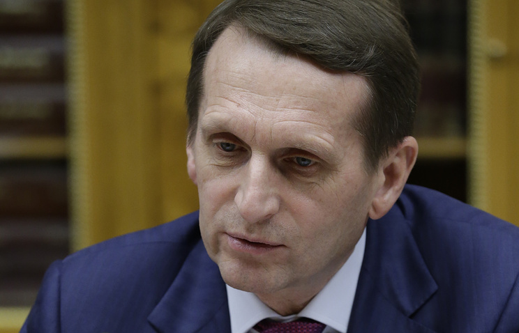 Russia's State Duma (lower house) Speaker Sergey Naryshkin