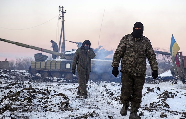 Ukrainian soldiers seen in eastern Ukraine
