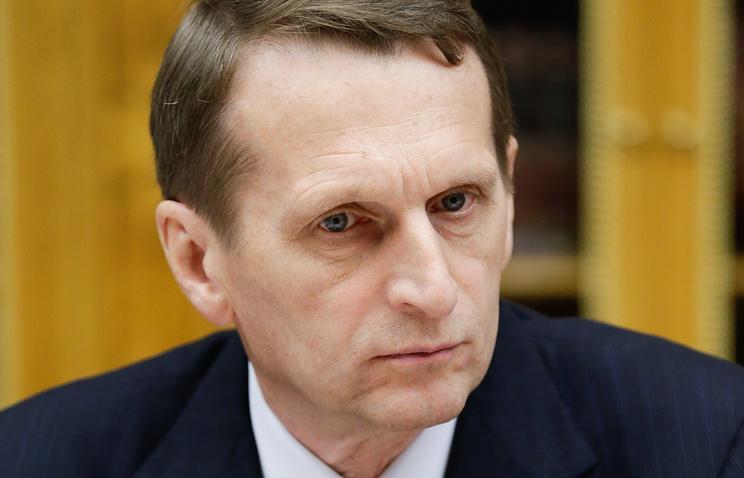 Russia's lower house of parliament speaker Sergey Naryshkin