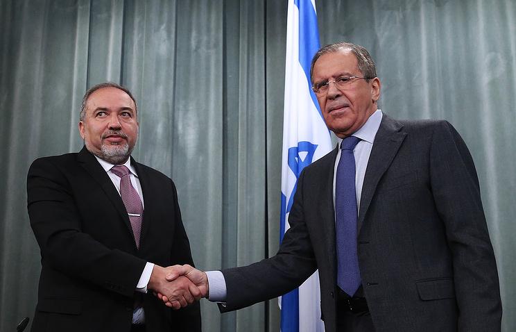 Avigdor Lieberman and Sergey Lavrov