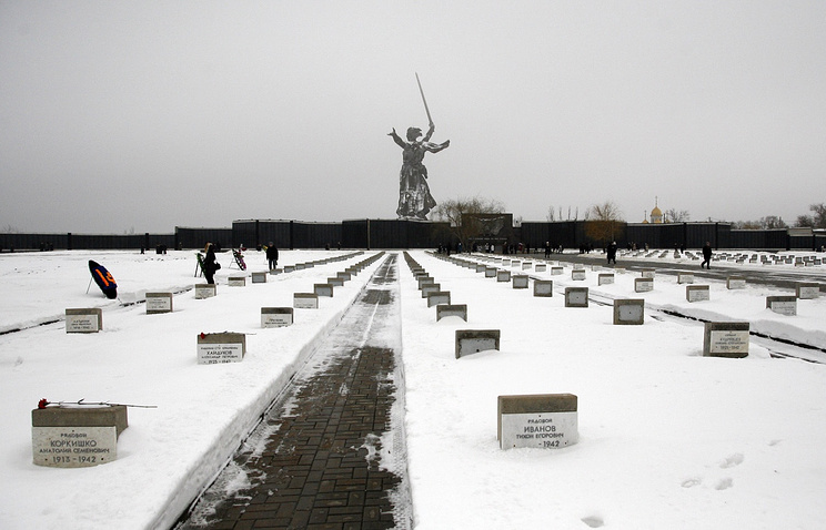 Memorial military cemetery at Mamayev Kurgan in Volgograd