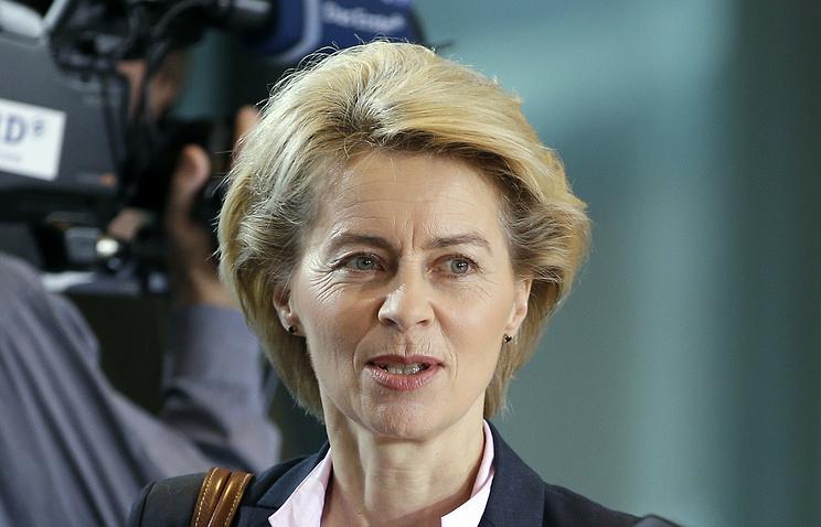 Germany's Defense Minister Ursula von der Leyen
