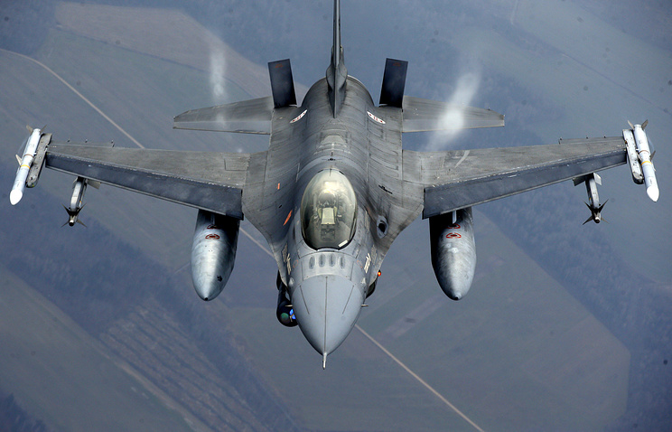 Military fighter participating in NATO's Baltic Air Policing Mission