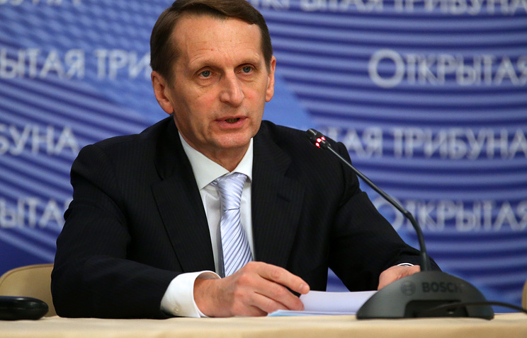 Sergey Naryshkin, the speaker of the Russian State Duma