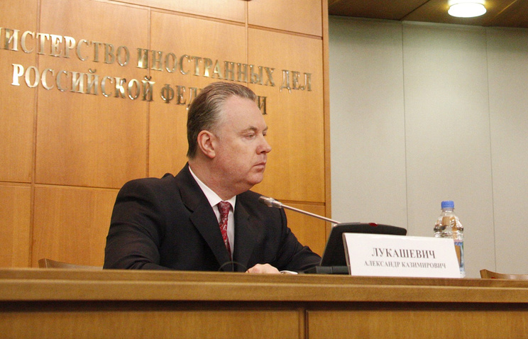 Alexander Lukashevich, a spokesman for the Russian Foreign Ministry