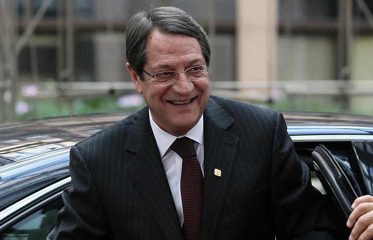 President of Cyprus Nikos Anastasiadis