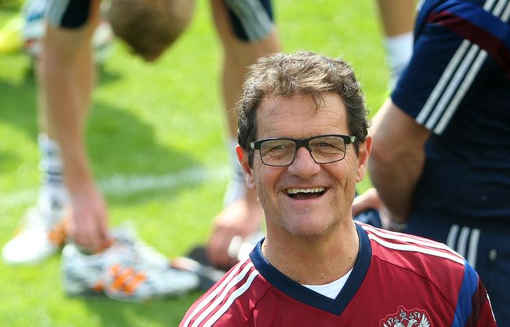 Head coach of the Russian national football team Fabio Capello