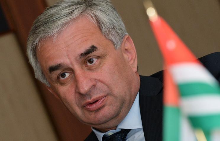 Abkhazia's president Raul Khadzhimba