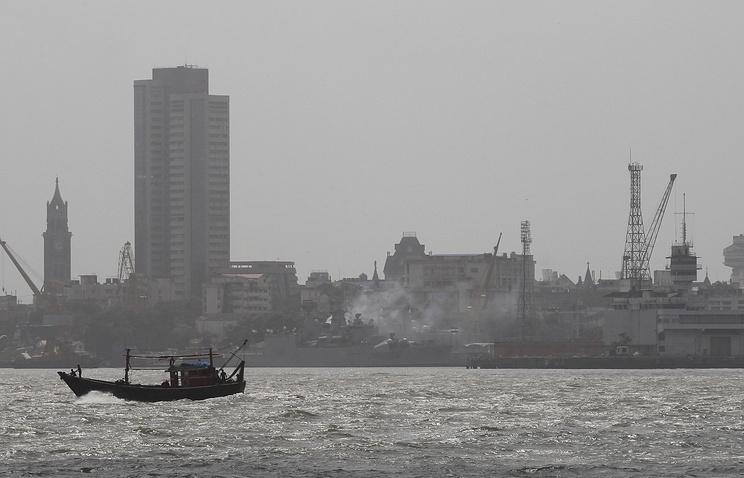 Naval dockyard in Mumbai, India