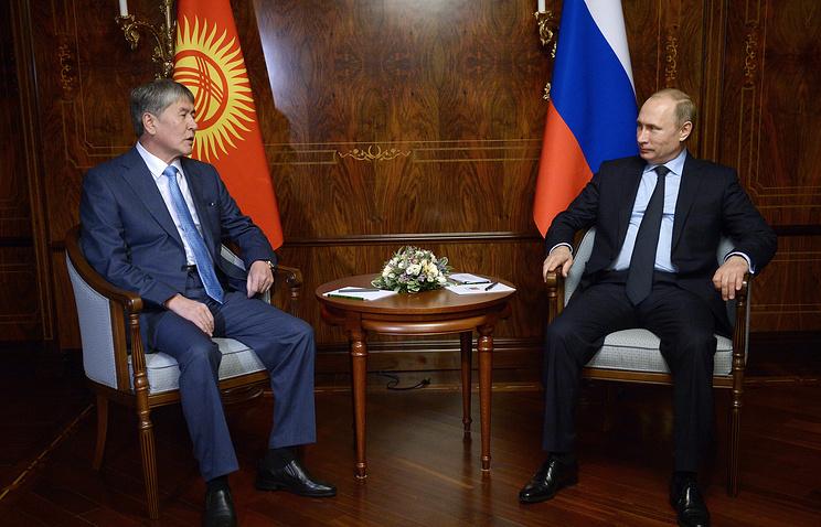 Almazbek Atambayev and Vladimir Putin (archive)
