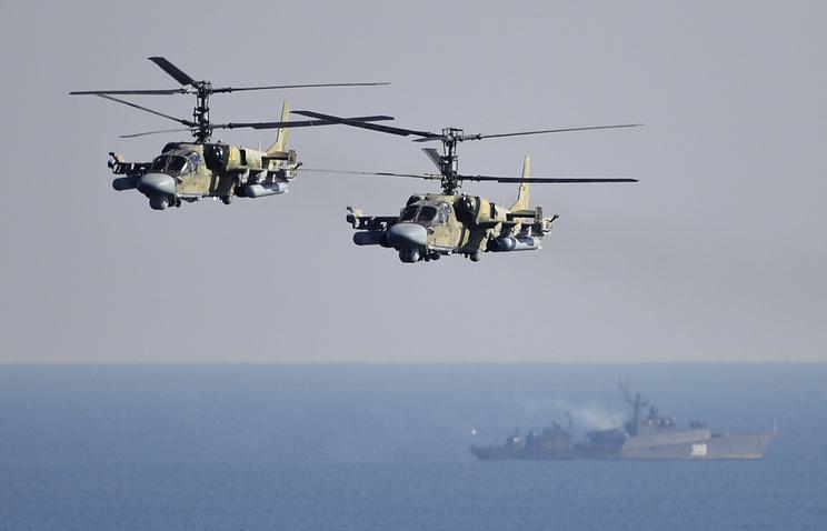 Ka-25 helicopters