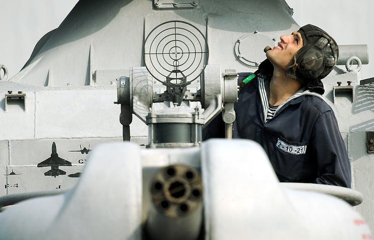 Russia's Caspian Flotilla drills (archive)