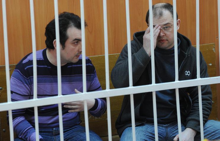 Mayor of Berdsk Ilya Potapov (right) and his former deputy Vladimir Mukhamedov (left)