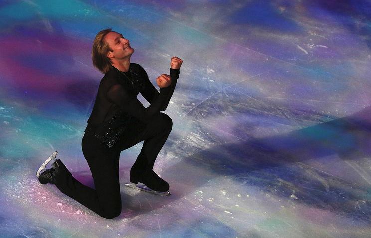 Russia's dual Olympic Champion in figure skating Evgeni Plushenko