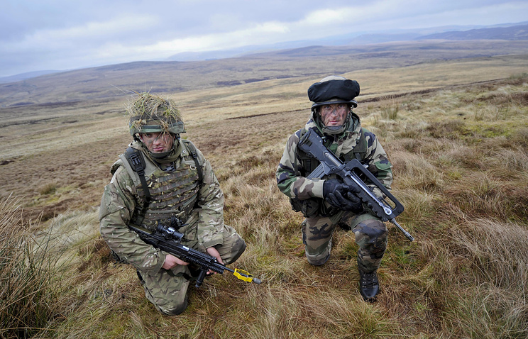 Military drills in the UK (archive)