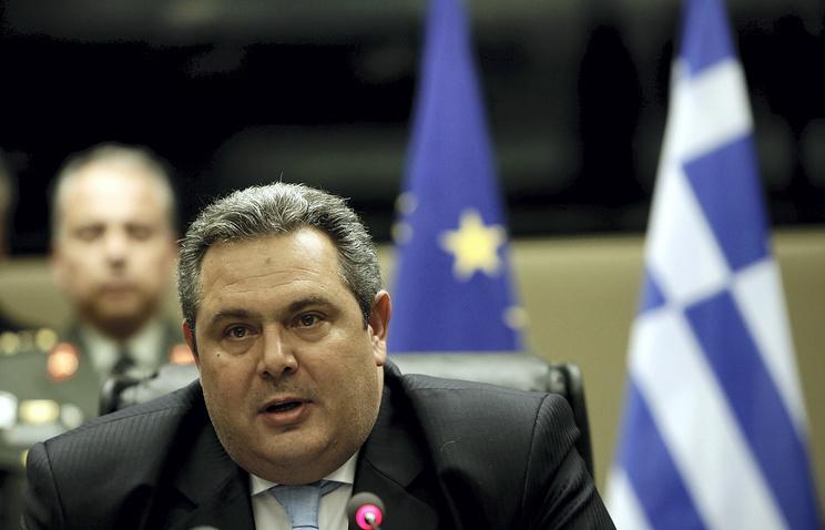 Greek Defense Minister Panos Kammenos