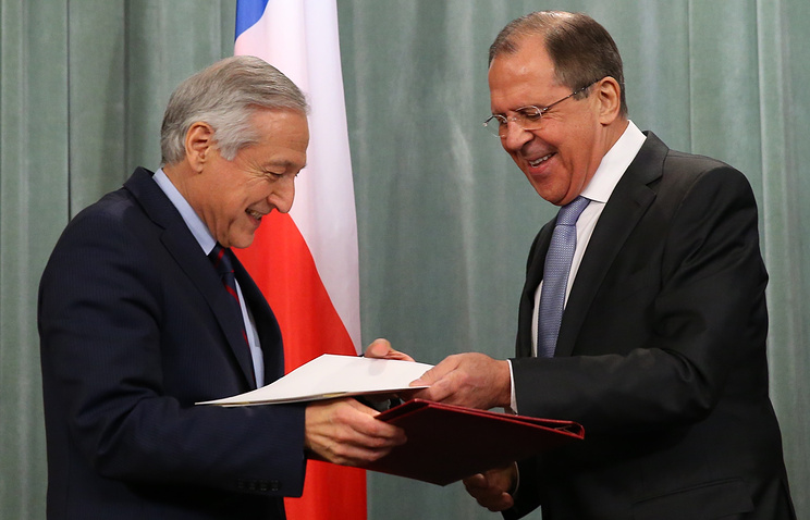 Heraldo Munoz and Sergey Lavrov