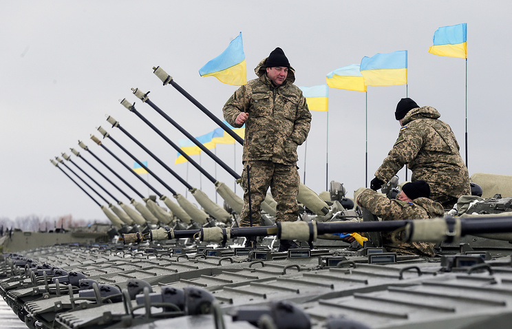 Ukrainian soldiers seen in January 2015 (archive)