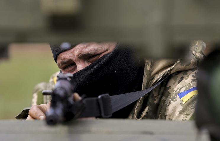 Ukrainian military in Shirokino village