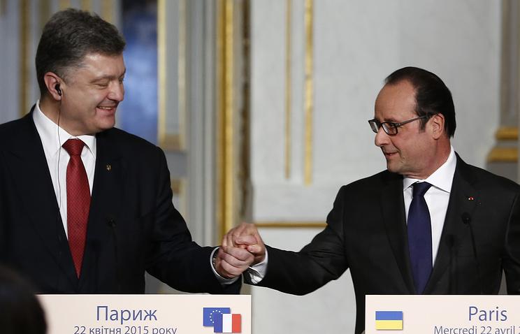 Petro Poroshenko and Francois Hollande