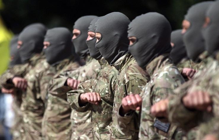 Ukrainian volunteer servicemen (archive)