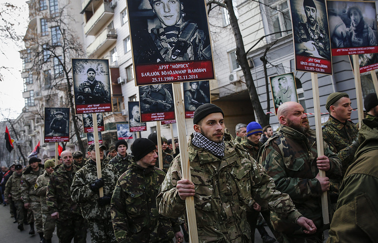 Right Sector activists in Kiev (archive)