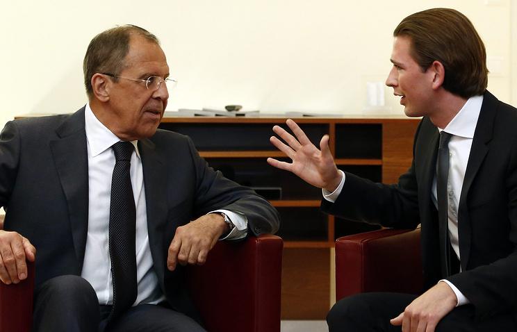 Sergei Lavrov and Sebastian Kurz