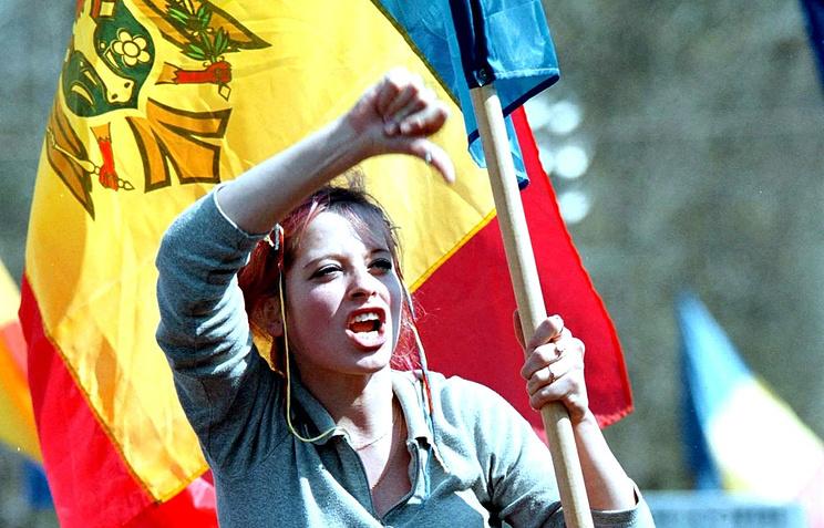 A protester in Moldova (archive)