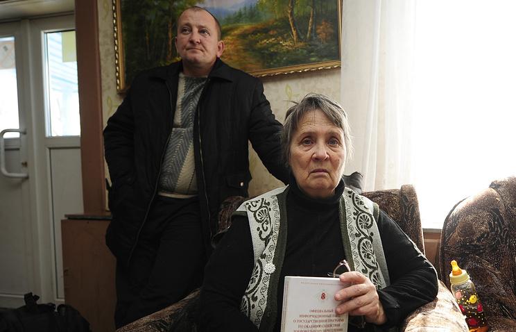 Refugees from eastern Ukraine