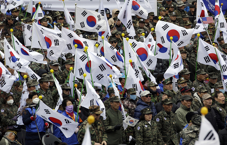 A rally to call for unity between two Koreas, in Seoul (archive)